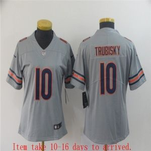 Women Bears #10 Mitchell Trubisky Jersey Inverted